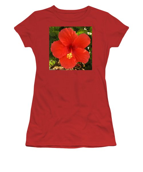 Red Pansy Women's T-Shirt (Athletic Fit)