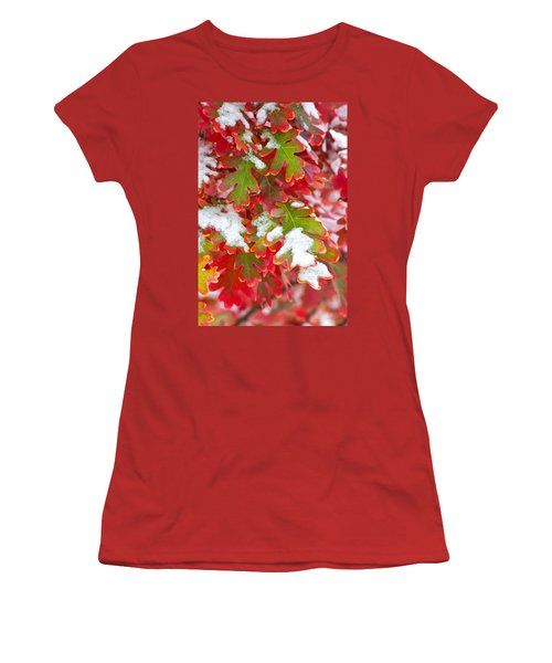 Women's T-Shirt (Junior Cut) featuring the photograph Red White And Green by Ronda Kimbrow