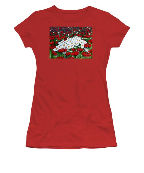Rubies And Pearls Women's T-Shirt (Junior Cut) by Jackie Carpenter