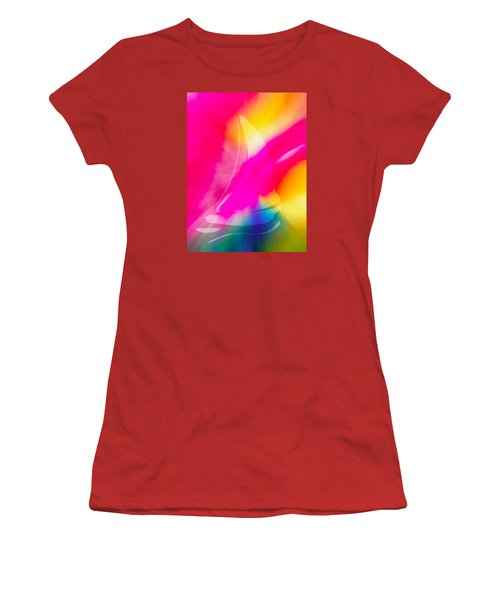 Women's T-Shirt (Junior Cut) featuring the digital art Sailing The Cosmos by Frank Bright