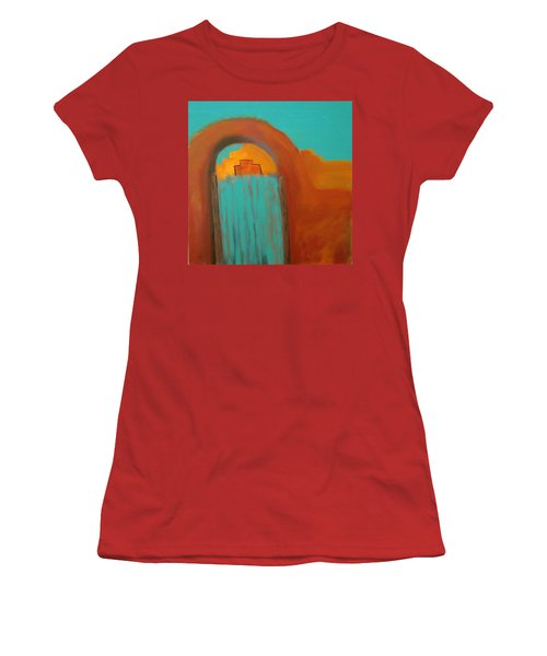 Women's T-Shirt (Junior Cut) featuring the painting Sante Fe by Keith Thue