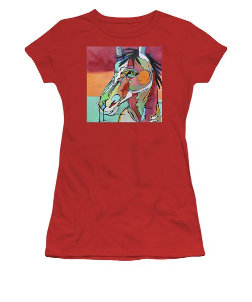 Women's T-Shirt (Junior Cut) featuring the painting Savannah  by Nicole Gaitan