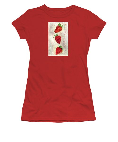 Women's T-Shirt (Junior Cut) featuring the painting So Juicy by Angela Davies