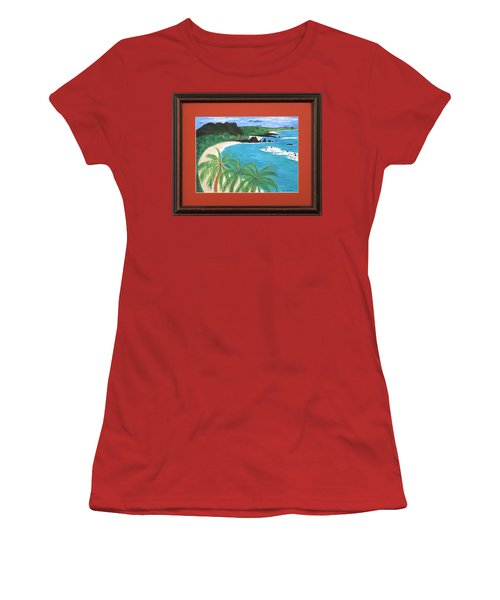 Women's T-Shirt (Junior Cut) featuring the painting South Pacific by Ron Davidson