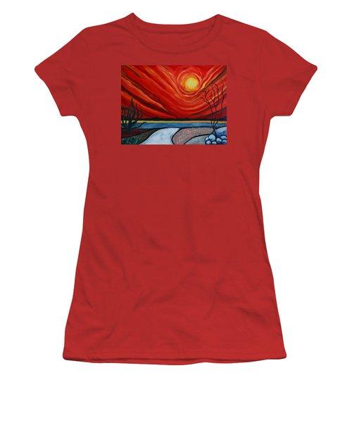 Southwest Desert Sun Women's T-Shirt (Athletic Fit)