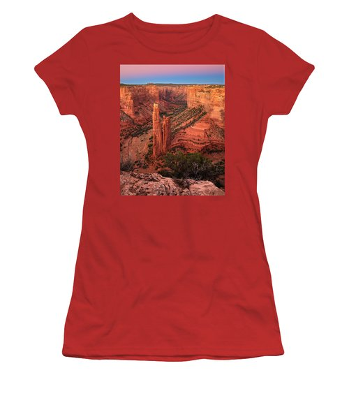 Spider Rock Sunset Women's T-Shirt (Athletic Fit)