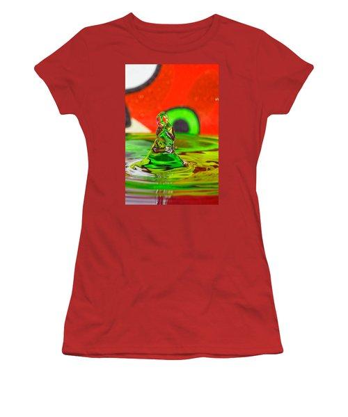 Women's T-Shirt (Junior Cut) featuring the photograph Splas by Peter Lakomy
