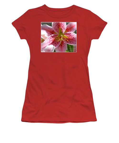 Women's T-Shirt (Junior Cut) featuring the photograph Stargazer Lily by Barbara Griffin