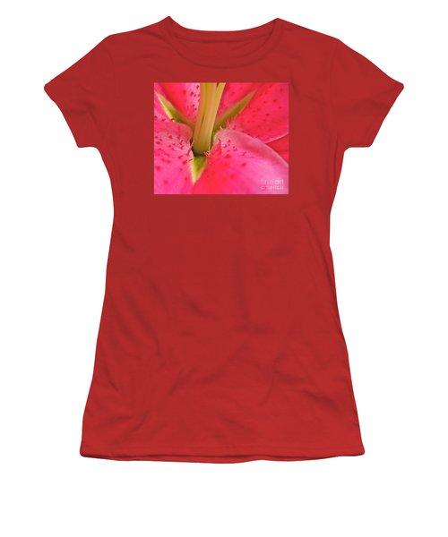 Women's T-Shirt (Junior Cut) featuring the photograph Stargazer Lily by Linda Bianic
