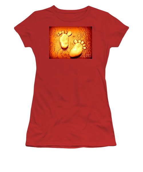 Women's T-Shirt (Junior Cut) featuring the photograph Stoney In The Rain by Clare Bevan