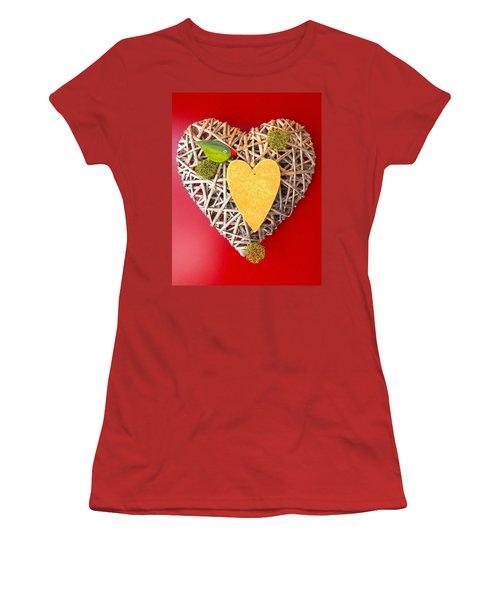 Women's T-Shirt (Junior Cut) featuring the photograph Summer Heart by Juergen Weiss