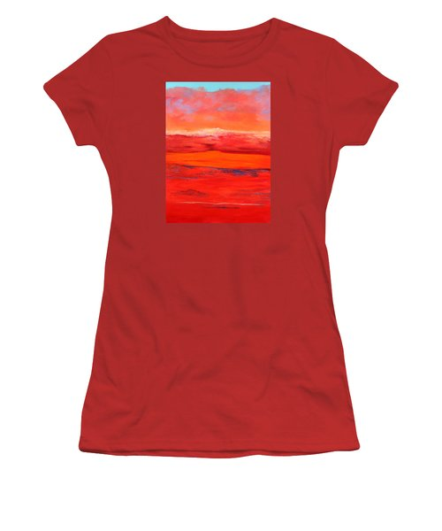 Women's T-Shirt (Junior Cut) featuring the painting Summer Heat 2 by M Diane Bonaparte
