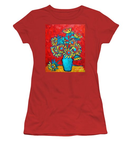 Sunflowers Bouquet Women's T-Shirt (Athletic Fit)