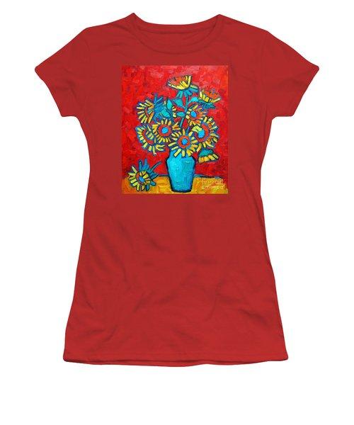 Sunflowers Bouquet Women's T-Shirt (Athletic Fit)