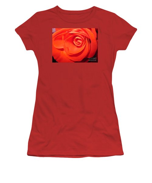 Sunkissed Orange Rose 9 Women's T-Shirt (Athletic Fit)