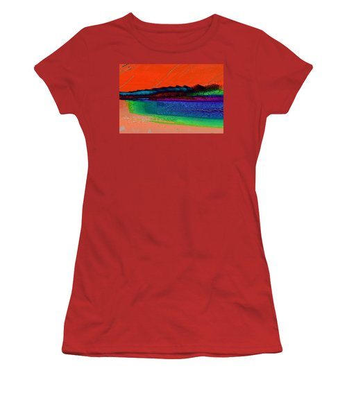 Sunset By The Lake Women's T-Shirt (Athletic Fit)