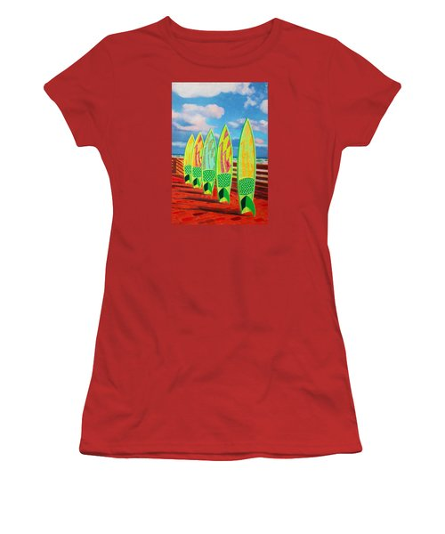 Surfs Up Women's T-Shirt (Athletic Fit)