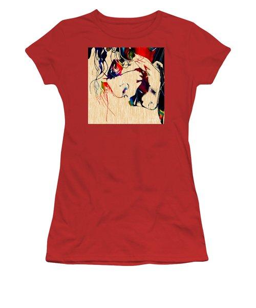 The Joker Heath Ledger Collection Women's T-Shirt (Junior Cut) by Marvin Blaine