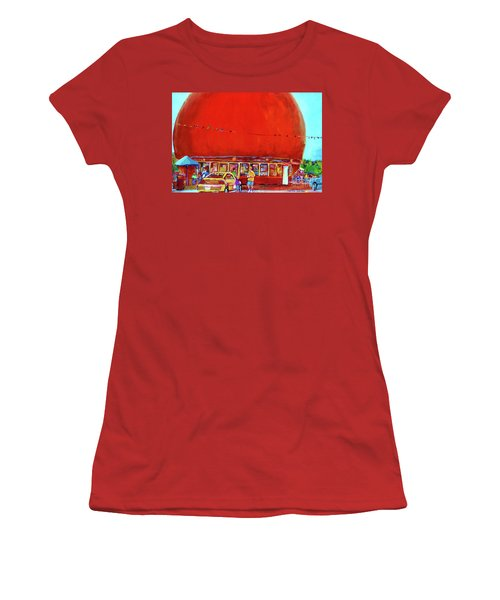 The Orange Julep Montreal Summer City Scene Women's T-Shirt (Athletic Fit)