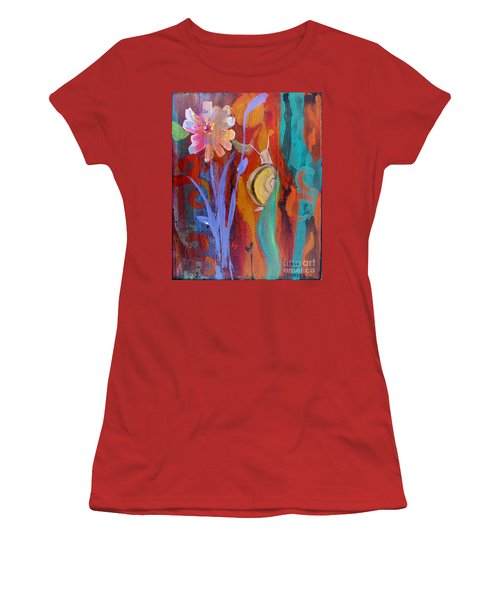 Women's T-Shirt (Junior Cut) featuring the painting Time Traveler by Robin Maria Pedrero