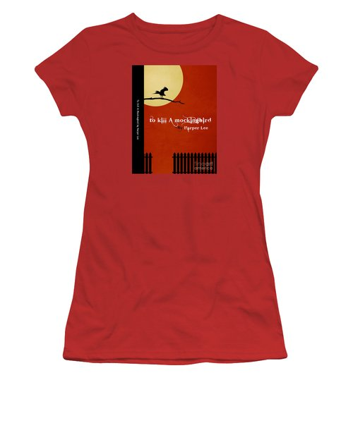 To Kill A Mockingbird Book Cover Movie Poster Art 1 Women's T-Shirt (Junior Cut) by Nishanth Gopinathan