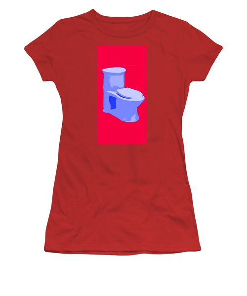 Toilette In Blue Women's T-Shirt (Athletic Fit)