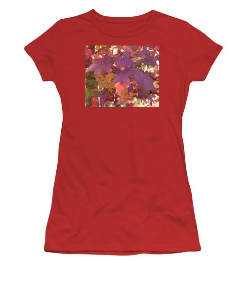 Women's T-Shirt (Junior Cut) featuring the photograph Traces Of Fall by Andrea Anderegg