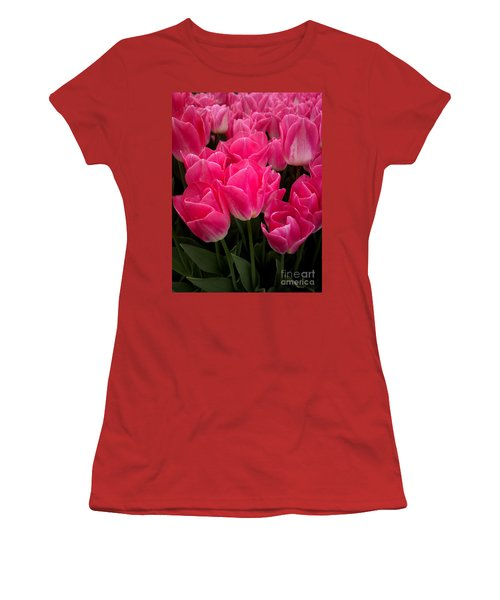 Women's T-Shirt (Junior Cut) featuring the photograph Tulip Festival - 19 by Hanza Turgul