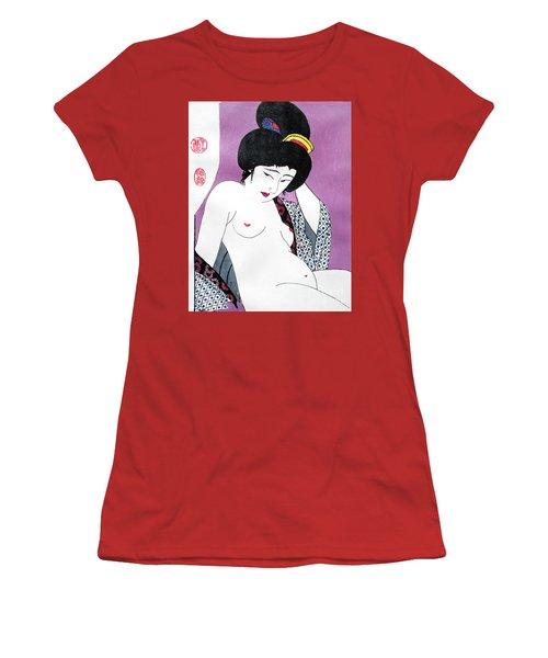 Uchikina Geisha Women's T-Shirt (Junior Cut) by Roberto Prusso