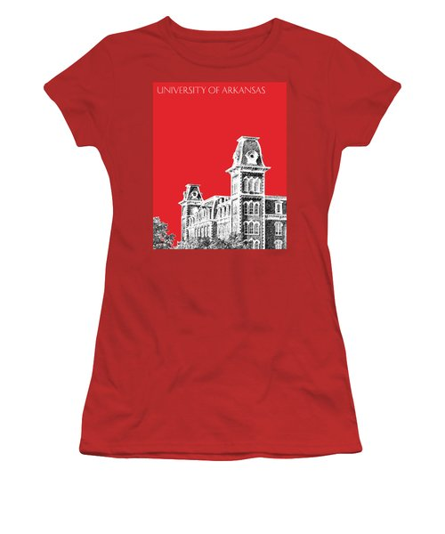University Of Arkansas - Red Women's T-Shirt (Athletic Fit)