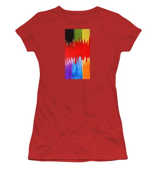 Women's T-Shirt (Junior Cut) featuring the painting Voice by Michael Cross