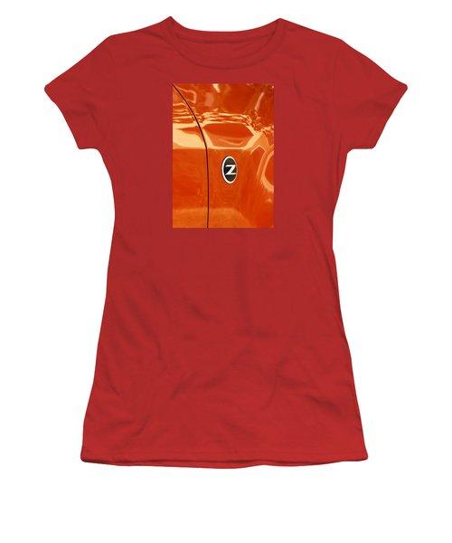 Z Emblem P Women's T-Shirt (Junior Cut) by Jerry Sodorff
