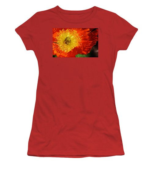 Bursting Peony Women's T-Shirt (Athletic Fit)