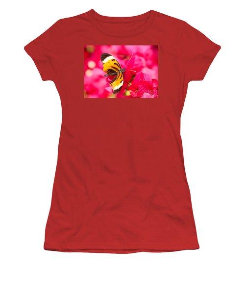 Women's T-Shirt (Junior Cut) featuring the photograph Butterfly by Les Palenik