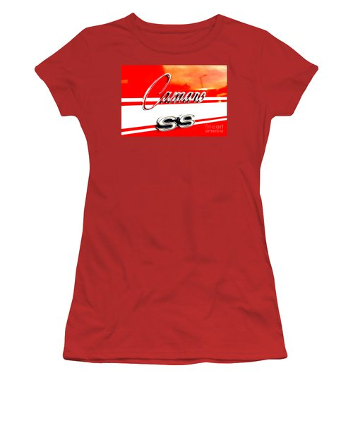 Women's T-Shirt (Junior Cut) featuring the digital art Camaro Ss Flank by Tony Cooper