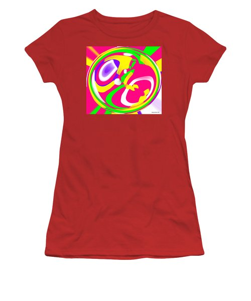 Women's T-Shirt (Junior Cut) featuring the digital art Color Roundup by George Pedro