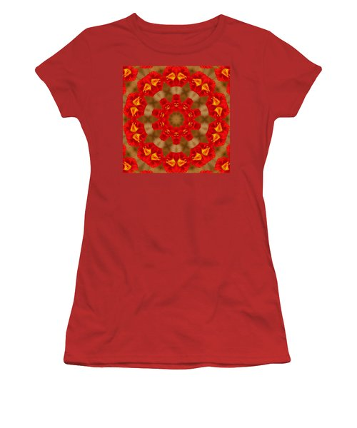 Day Lily Kaleidoscope Women's T-Shirt (Junior Cut) by Bill Barber