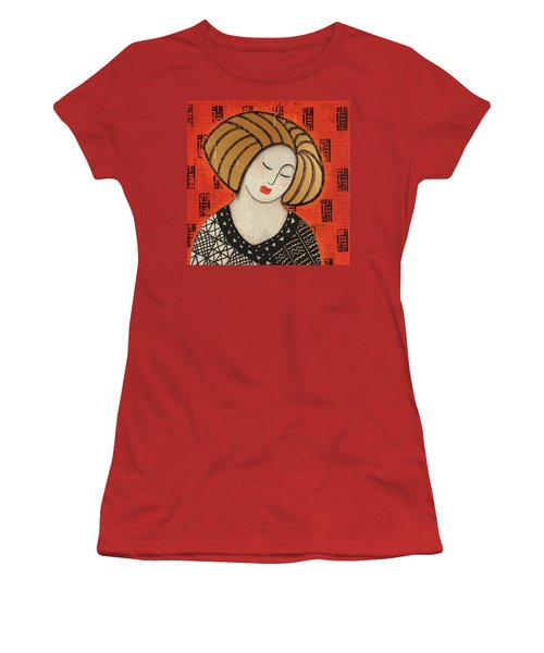 Women's T-Shirt (Junior Cut) featuring the mixed media Deeper Still by Gloria Rothrock