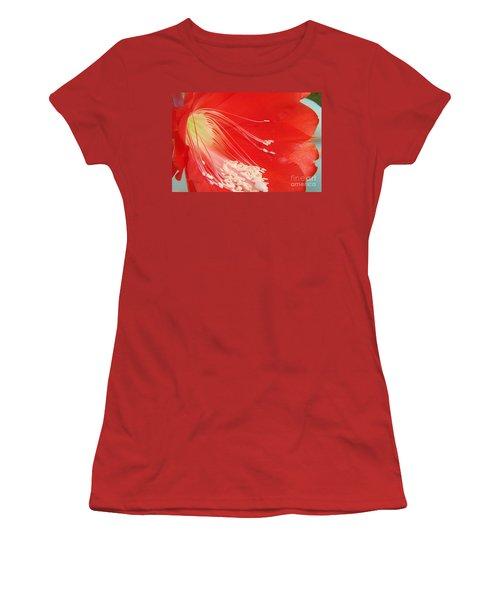 Fire Cactus Women's T-Shirt (Athletic Fit)