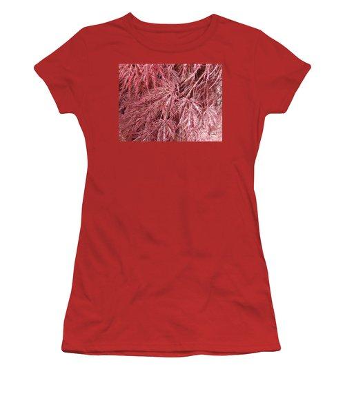 Women's T-Shirt (Junior Cut) featuring the photograph Japanese Maple by Laurel Best