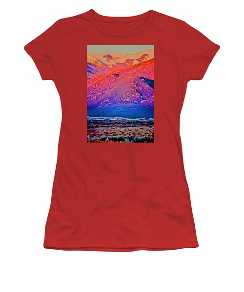Mt Wheeler At Sunset Women's T-Shirt (Athletic Fit)