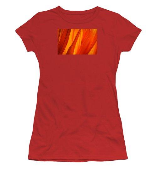 Orange Sunshine Women's T-Shirt (Junior Cut) by Bobby Villapando