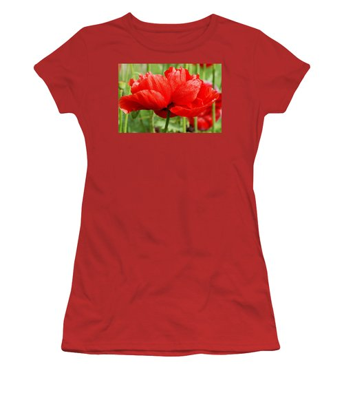 Women's T-Shirt (Junior Cut) featuring the photograph Red And Green by Fotosas Photography
