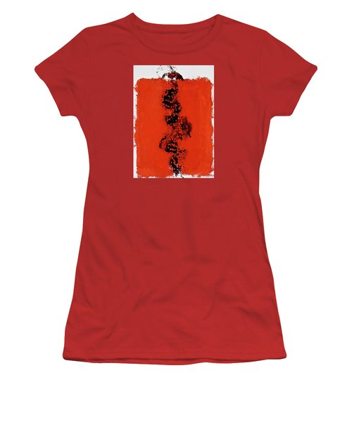 Women's T-Shirt (Junior Cut) featuring the painting Serpentine All In A Roe by Cliff Spohn