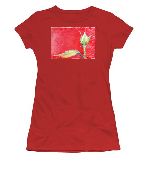 White Rosebud Women's T-Shirt (Athletic Fit)