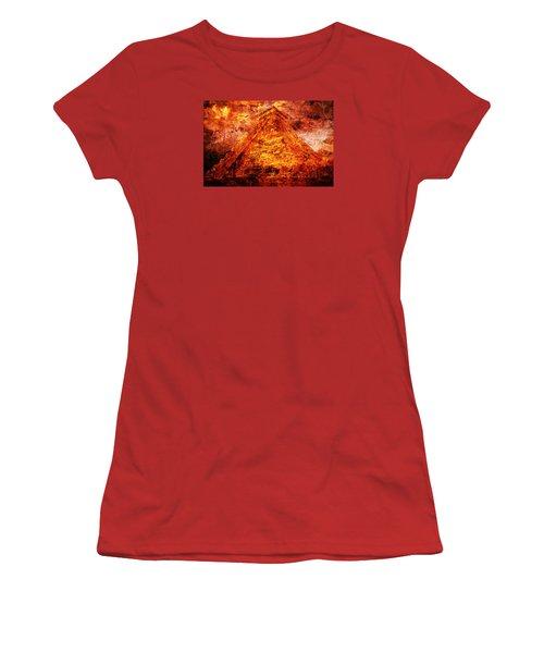 Kukulcan Pyramid Women's T-Shirt (Junior Cut) by J- J- Espinoza