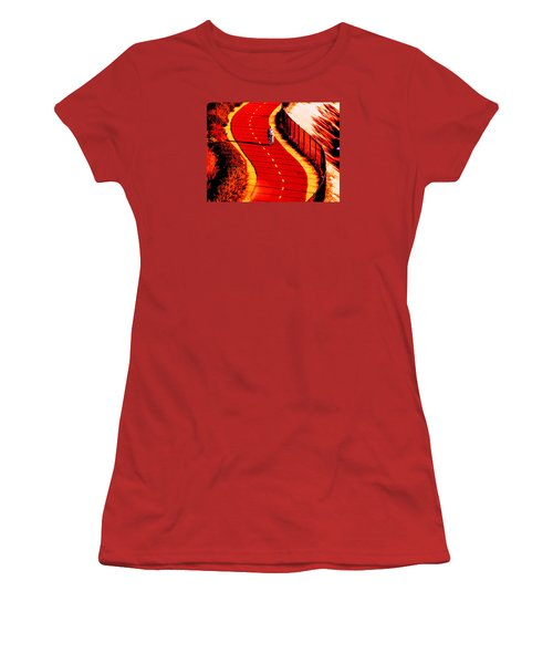 Red Path  Women's T-Shirt (Athletic Fit)