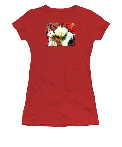 A Birthday Kiss Women's T-Shirt (Junior Cut) by Alene Sirott-Cope