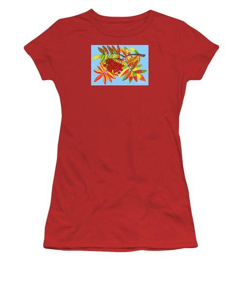 Ashberry, Painting Women's T-Shirt (Junior Cut) by Irina Afonskaya