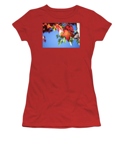 Women's T-Shirt (Athletic Fit) featuring the photograph Autumn Leaves  by Jingjits Photography